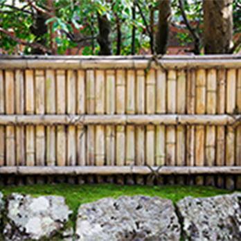 和風の竹フェンス